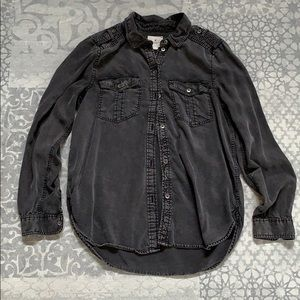 American Eagle military style button up. Size S